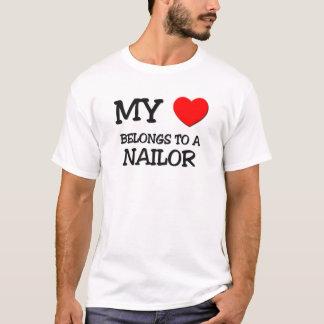 My Heart Belongs To A NAILOR T-Shirt