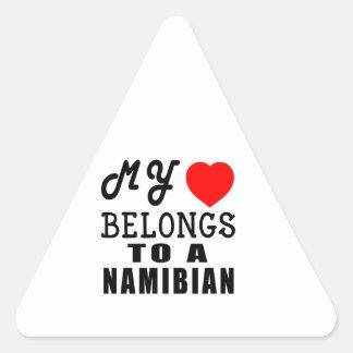 My Heart Belongs To A Namibian Triangle Sticker