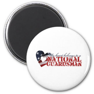 My heart belongs to a National Guardsman 2 Inch Round Magnet