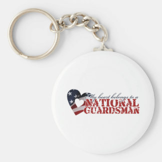 My heart belongs to a National Guardsman Keychain