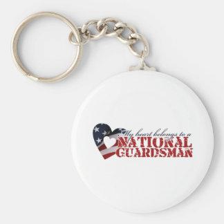 My heart belongs to a National Guardsman Key Chains
