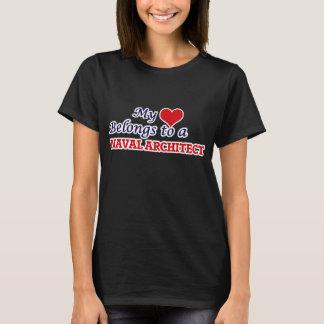 My Heart Belongs To A Naval Architect T Shirt