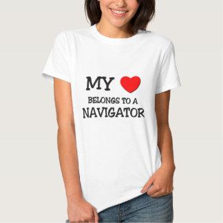 My Heart Belongs To A NAVIGATOR Tee Shirt