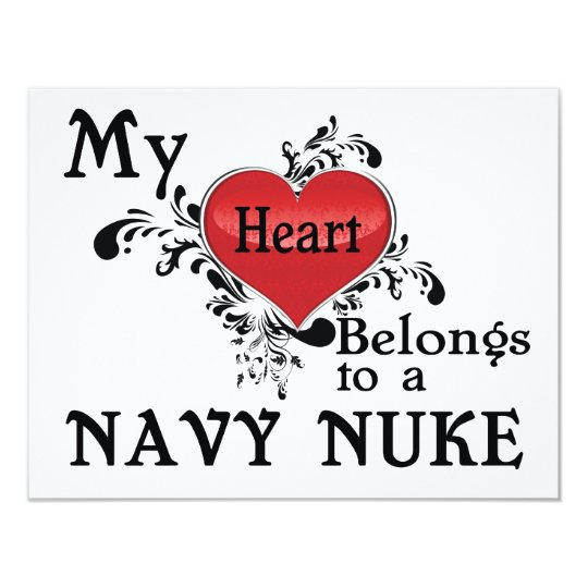 My Heart Belongs to a Navy Nuke Card