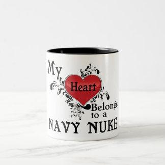 My Heart Belongs to a Navy Nuke Two-Tone Coffee Mug