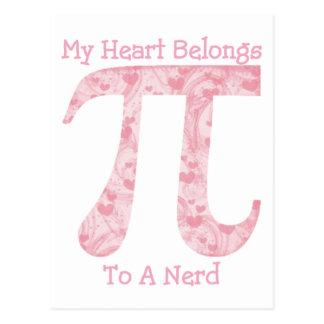My Heart Belongs To A Nerd Post Cards
