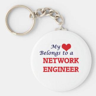 My heart belongs to a Network Engineer Keychain
