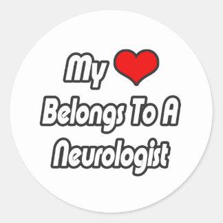My Heart Belongs To A Neurologist Classic Round Sticker