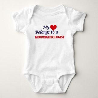 My heart belongs to a Neuroradiologist Baby Bodysuit