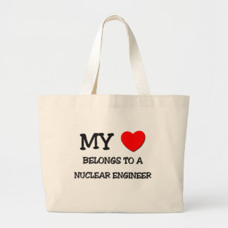 My Heart Belongs To A NUCLEAR ENGINEER Canvas Bags