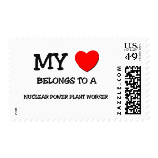 My Heart Belongs To A NUCLEAR POWER PLANT WORKER Postage Stamp