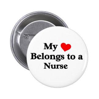 My Heart belongs to a Nurse 2 Inch Round Button