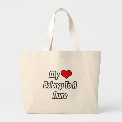 My Heart Belongs To A Nurse Bags