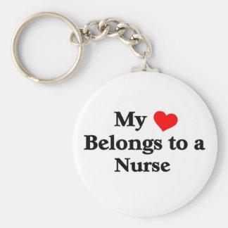 My Heart belongs to a Nurse Keychain
