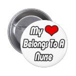 My Heart Belongs To A Nurse Pin