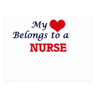 My heart belongs to a Nurse Postcard