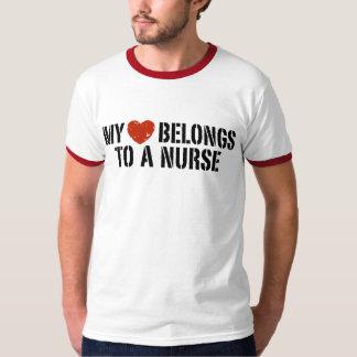 My heart belongs to a nurse tee shirt