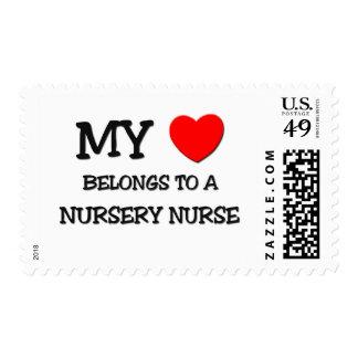 My Heart Belongs To A NURSERY NURSE Postage Stamp