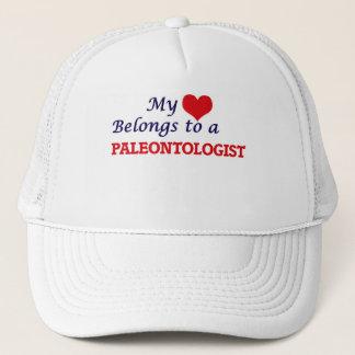 My heart belongs to a Paleontologist Trucker Hat
