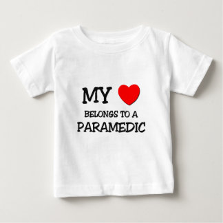 My Heart Belongs To A PARAMEDIC Baby T-Shirt