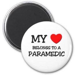 My Heart Belongs To A PARAMEDIC Magnet