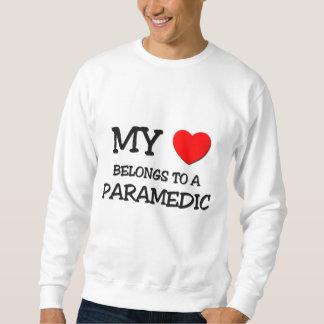 My Heart Belongs To A PARAMEDIC Pullover Sweatshirt