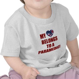 My Heart Belongs to a Paramedic Tee Shirt