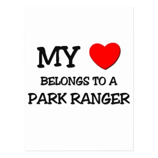 My Heart Belongs To A PARK RANGER Postcard