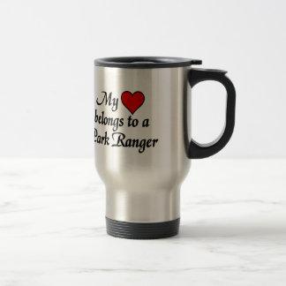 My heart belongs to a Park Ranger Travel Mug