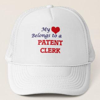 My heart belongs to a Patent Clerk Trucker Hat