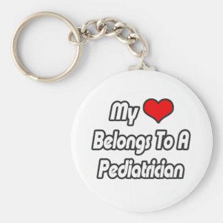 My Heart Belongs To A Pediatrician Basic Round Button Keychain