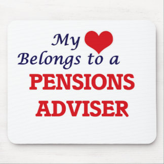 My heart belongs to a Pensions Adviser Mouse Pad