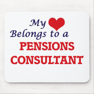 My heart belongs to a Pensions Consultant Mouse Pad