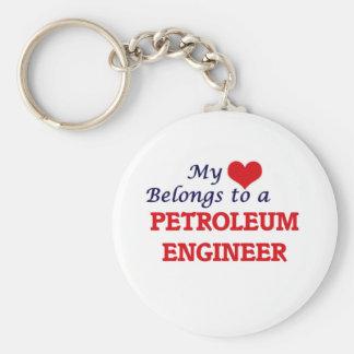 My heart belongs to a Petroleum Engineer Keychain