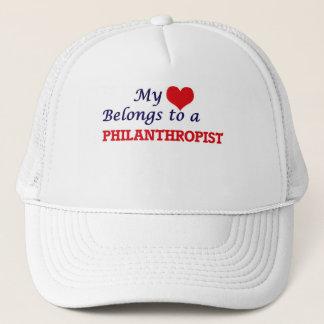 My heart belongs to a Philanthropist Trucker Hat