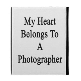My Heart Belongs To A Photographer iPad Folio Cover
