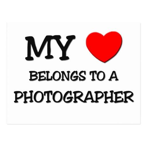 My Heart Belongs To A PHOTOGRAPHER Postcard