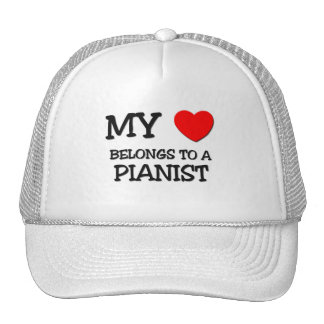 My Heart Belongs To A PIANIST Mesh Hat