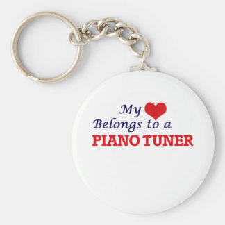 My heart belongs to a Piano Tuner Keychain