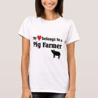 My heart belongs to a Pig Farmer T-Shirt