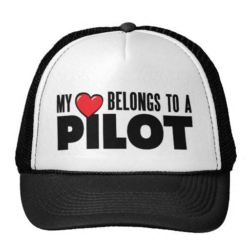 My Heart Belongs to a Pilot Trucker Hat
