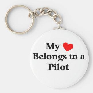 My heart belongs to a Pilot Keychain