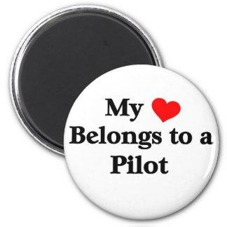 My heart belongs to a Pilot Fridge Magnets