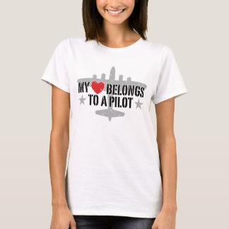 My Heart Belongs To A Pilot T-Shirt