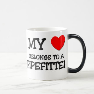 My Heart Belongs To A PIPEFITTER Magic Mug