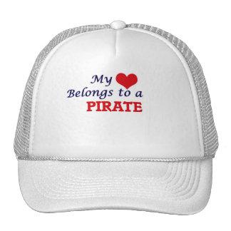 My heart belongs to a Pirate Trucker Hat