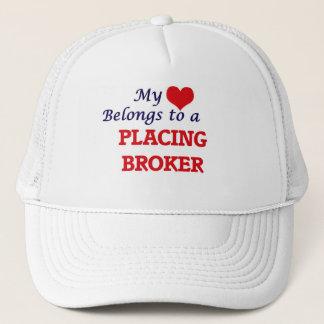 My heart belongs to a Placing Broker Trucker Hat