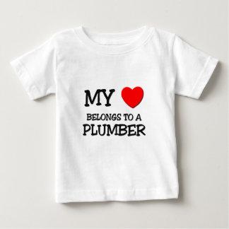 My Heart Belongs To A PLUMBER Baby T-Shirt