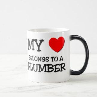 My Heart Belongs To A PLUMBER Magic Mug