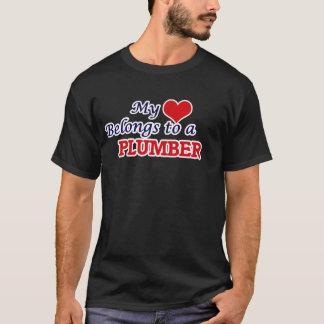 My heart belongs to a Plumber T-Shirt